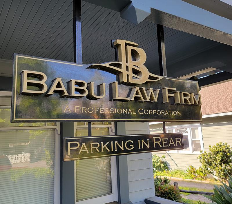 Babu Law Firm Sign